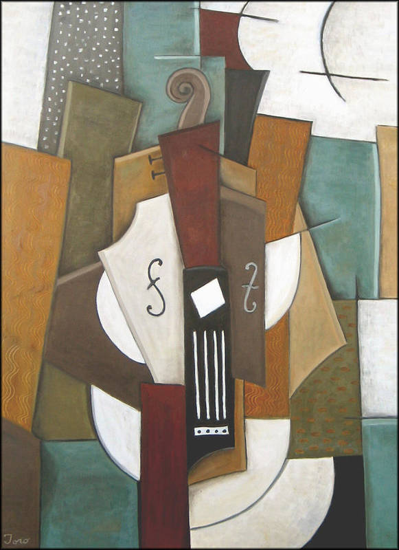 Cubism Poster featuring the painting Impromptu by Trish Toro