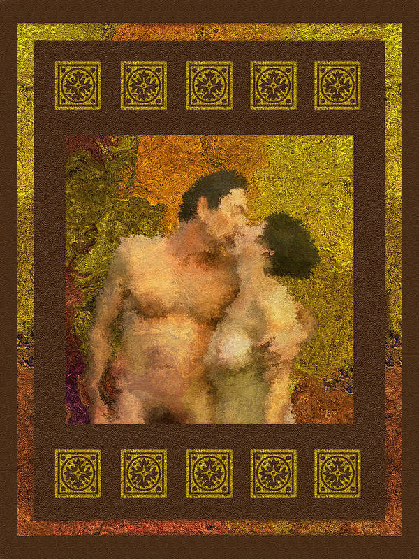 Nudes Poster featuring the photograph In Love by Kurt Van Wagner