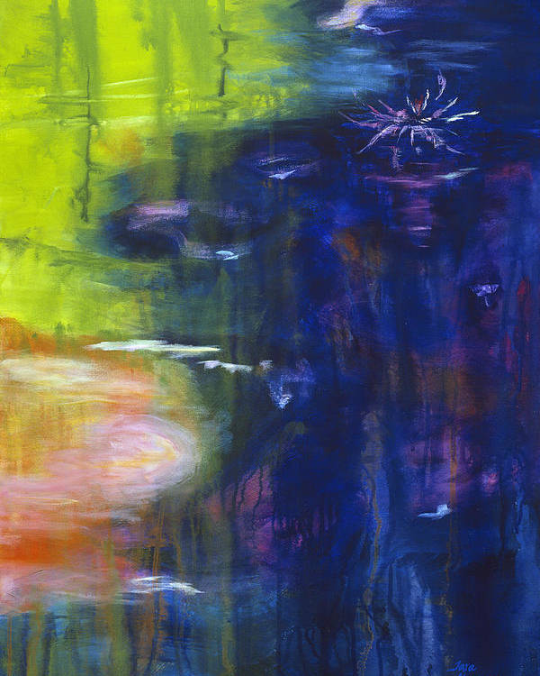 Abstract Poster featuring the painting In The Flow by Tara Moorman