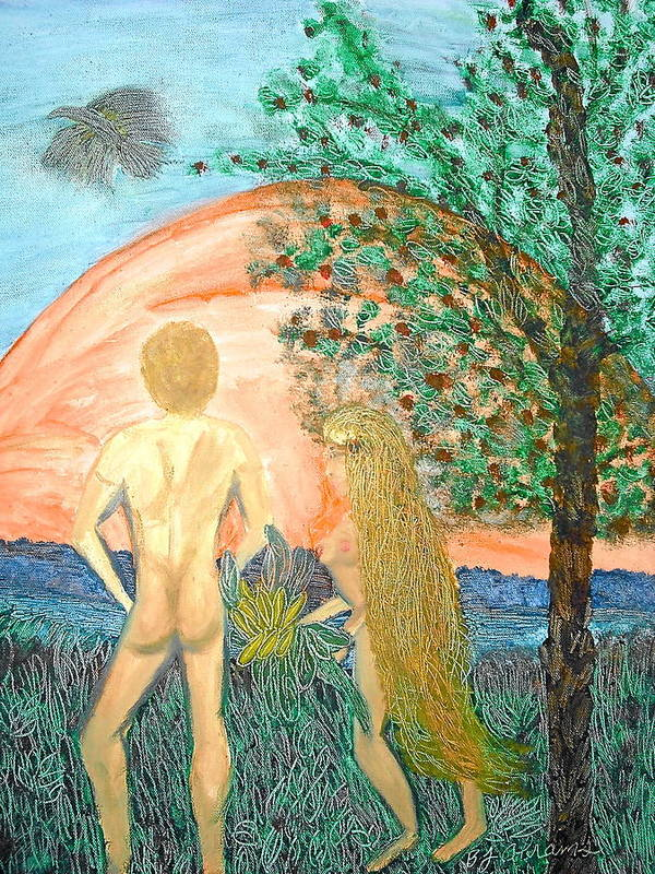 Creation Poster featuring the painting In the Garden by BJ Abrams