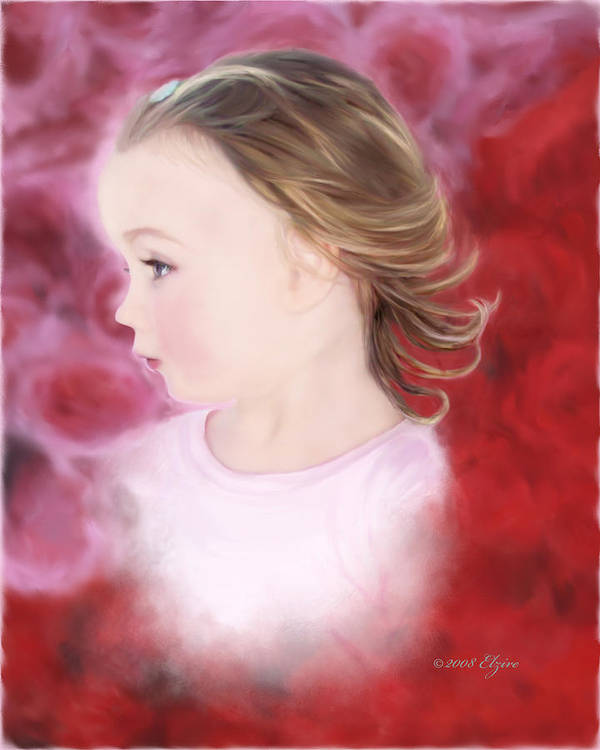 Little Girl Poster featuring the painting In The Pink by Elzire S
