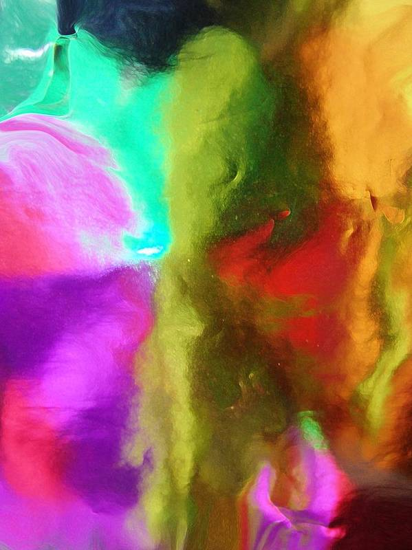 Abstract Poster featuring the digital art In Your Dreams by Florene Welebny