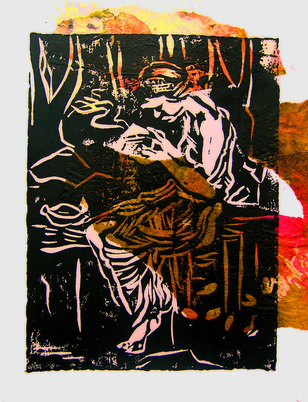 Figure Poster featuring the mixed media Incense Box 3 by Adam Kissel
