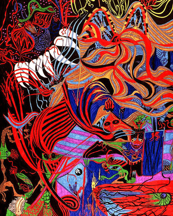 Abstract Poster featuring the print Incense by William Watson