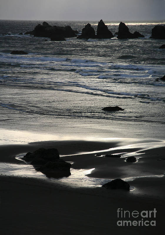 Bandon Poster featuring the photograph Incoming Tide by Timothy Johnson