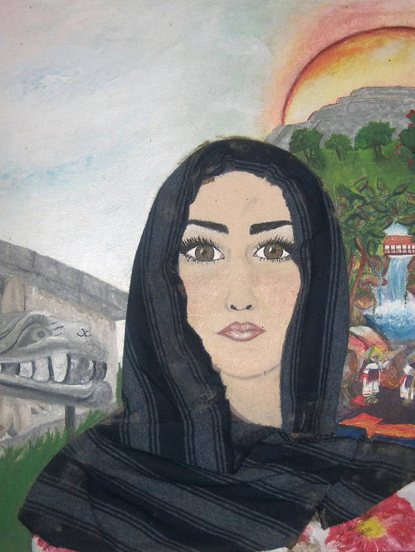 Mexican Art Poster featuring the painting India by Jessica De la Torre