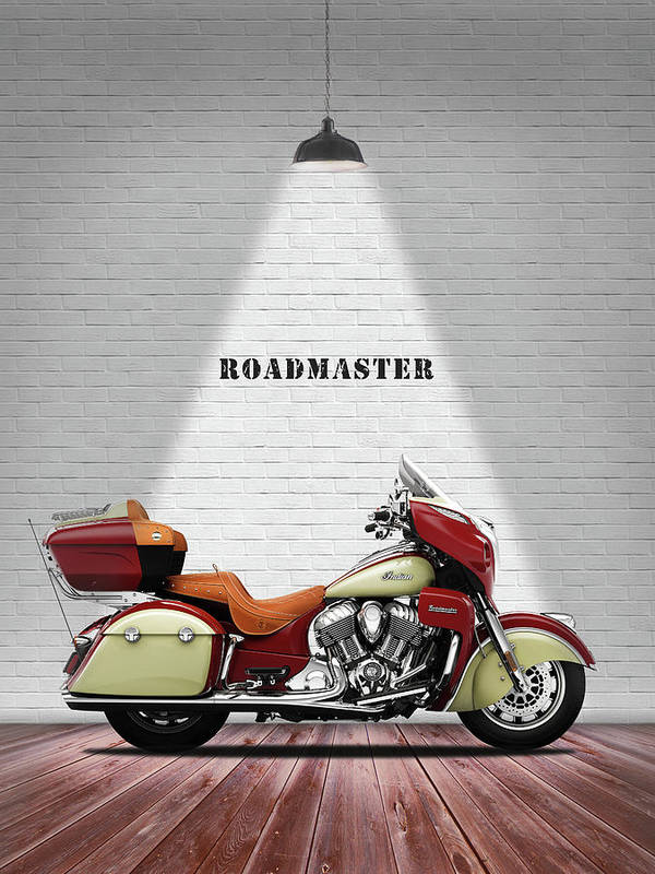 Indian Roadmaster Poster featuring the photograph The Roadmaster by Mark Rogan