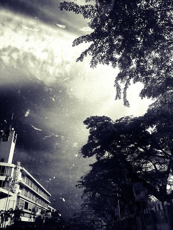 Photograph Black Dark Gothic Haunted Sky Horror Poster featuring the photograph Indonesia Sky Line by Christina -