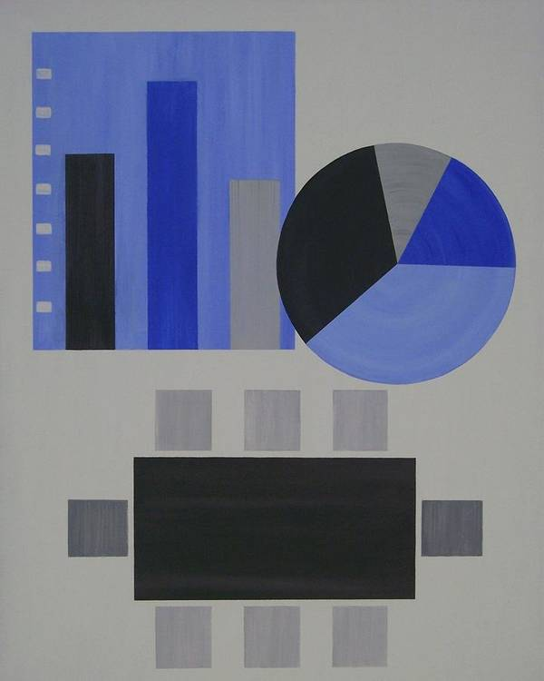 Corporate Poster featuring the painting Industry 2 White Collar by Sandy Bostelman