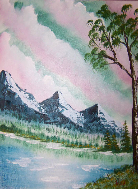 Lake Poster featuring the painting Infinity by Laurie Kidd