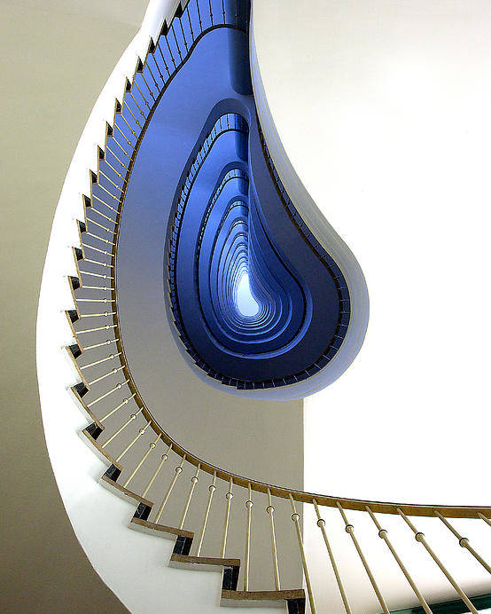 Stairs Poster featuring the photograph Infinity Steps by Martin Widlund