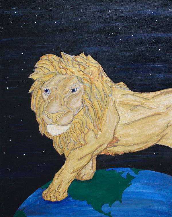 Lion Poster featuring the painting Inheritance by Ryan Aitken