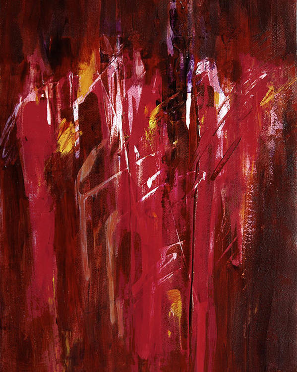Abstract Poster featuring the painting Initiation by Tara Moorman