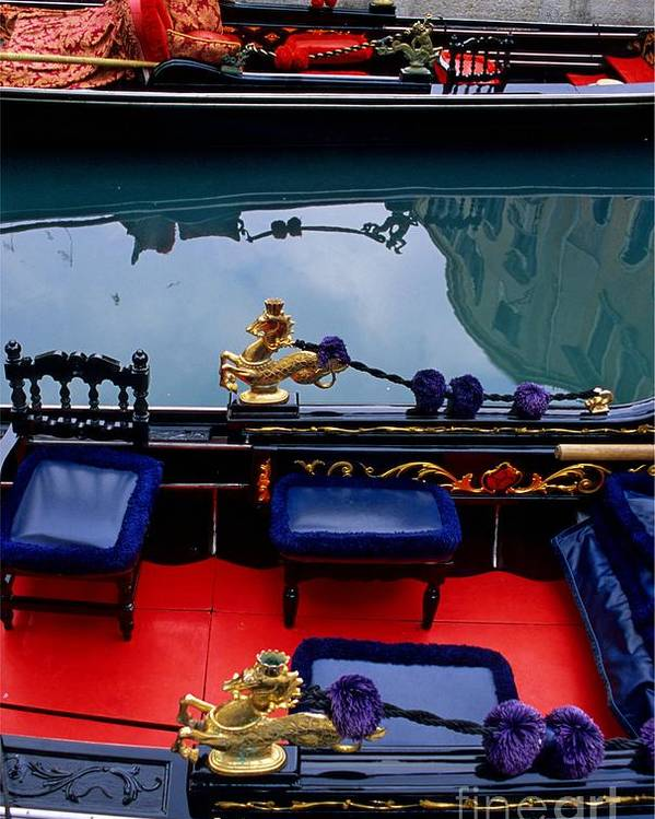 Venice Poster featuring the photograph Inside Gondola In Venice by Michael Henderson