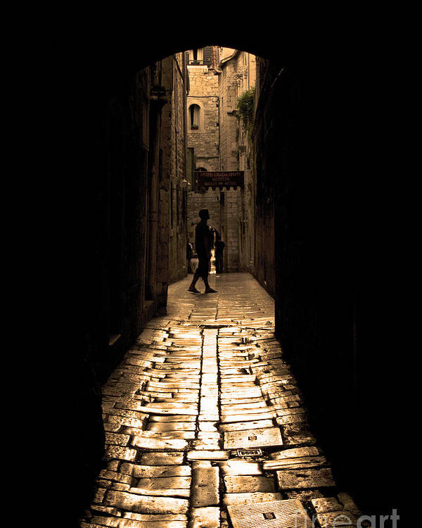 Alley Poster featuring the photograph Insular Calm by Andrew Paranavitana