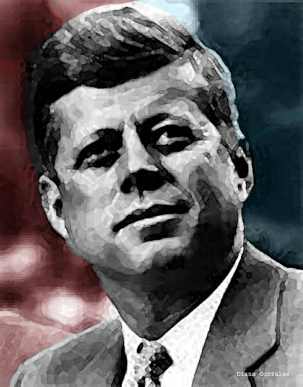 Jfk Poster featuring the drawing Integrity by Diana Gonzalez