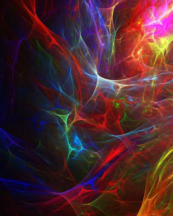 Fine Art Poster featuring the digital art Internal Demons by David Lane