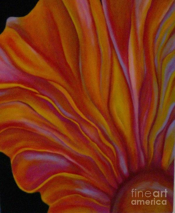 Floral Poster featuring the painting Internal Floral by Sidra Myers