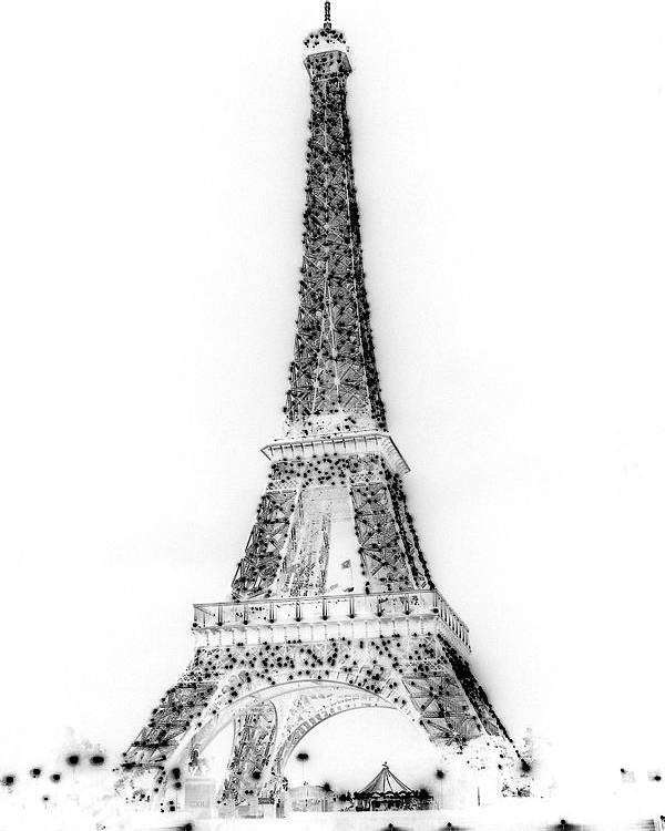 Eiffel Tower Poster featuring the photograph Inverted Eiffel Tower by Al Blackford