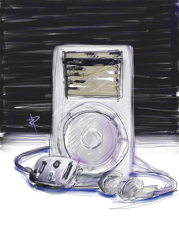 Ipod Poster featuring the digital art iPod by Russell Pierce