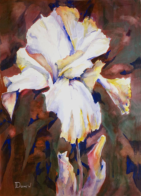 Iris Study Poster featuring the painting Iris by Bob Duncan