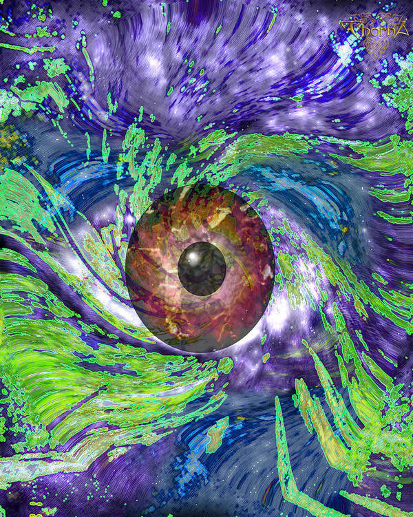Digital Art Poster featuring the digital art Iris by Greg Piszko