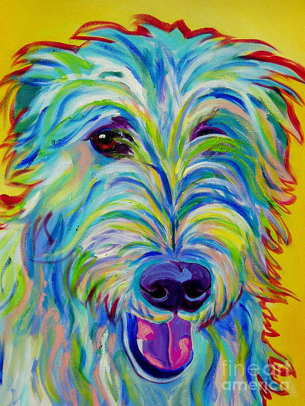 Dog Poster featuring the painting Irish Wolfhound - Angus by Alicia VanNoy Call
