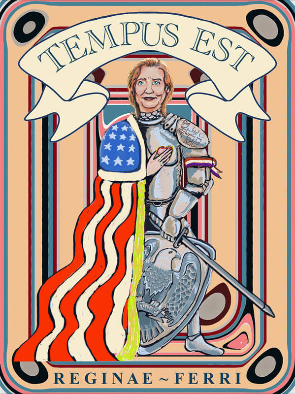 Hillary Clinton Iron Queen Love And Understanding Progressive Poster featuring the digital art Iron Queen by Stoy Greenwood