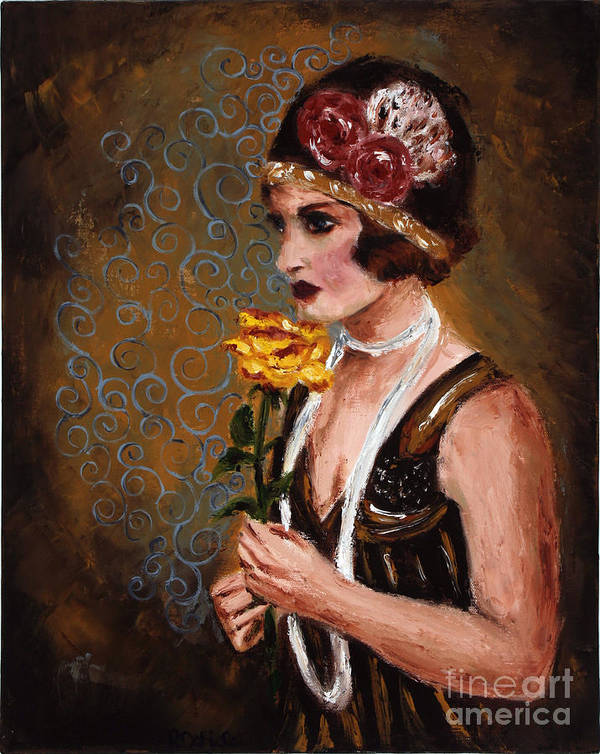 Woman Poster featuring the painting Isabel by Robin DeLisle