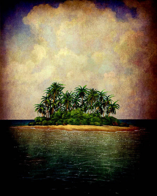 Island Poster featuring the photograph Island Of Dreams by Susanne Van Hulst