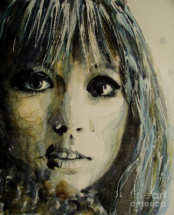 Pattie Boyd Poster featuring the painting Isnt't It Pity by Paul Lovering