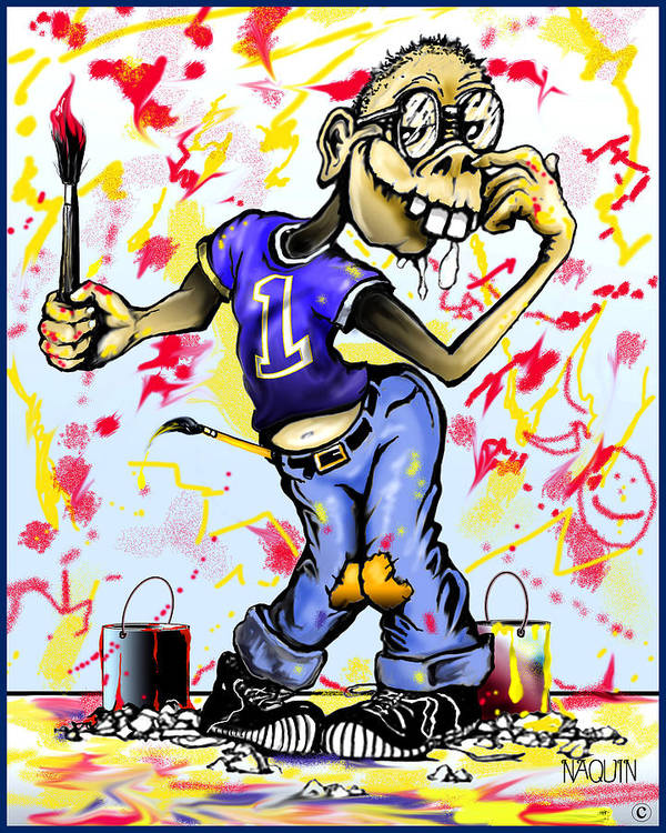 Cartoon Artist Poster featuring the drawing It Wasn't Me by Keith Naquin