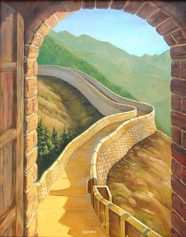 China Poster featuring the painting It's A Great Wall by Tanja Ware