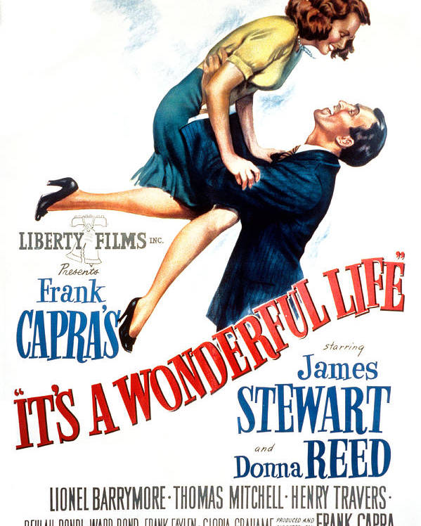 1940s Movies Poster featuring the photograph Its A Wonderful Life, Donna Reed, James by Everett