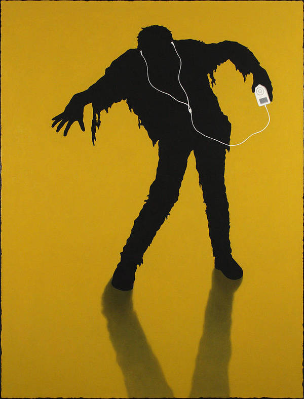 Ipod Poster featuring the painting iZombie by James W Johnson