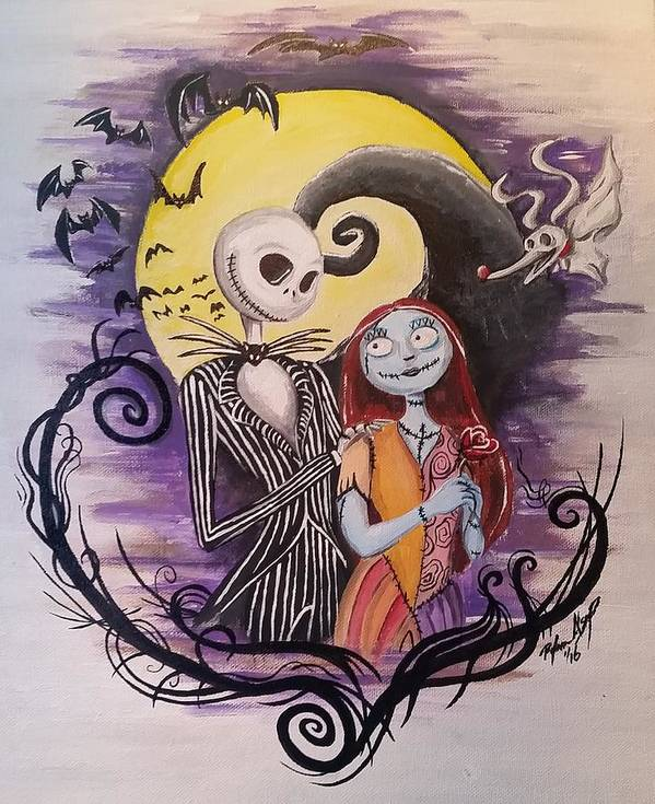 Jack And Sally Poster By Ryan Alsup
