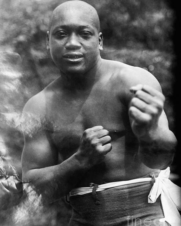 1910s Poster featuring the photograph Jack Johnson (1878-1946) by Granger