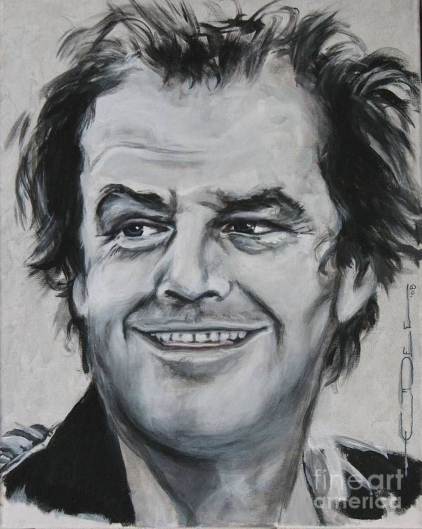 Jack Nicholson Poster featuring the painting Jack Nicholson by Eric Dee