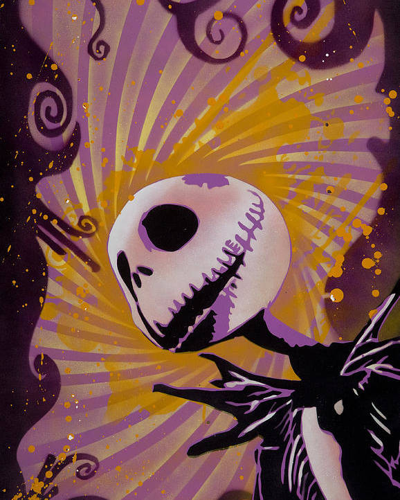 Pop Poster featuring the painting Jack Skellington by Tai Taeoalii