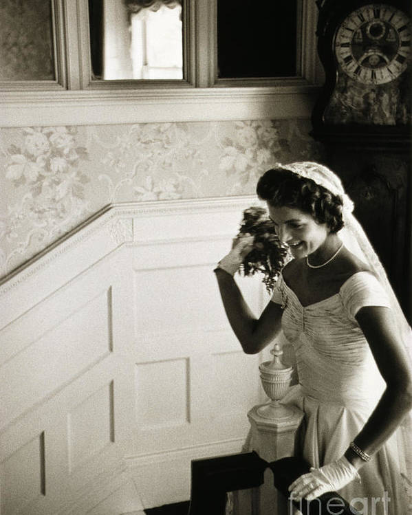 1953 Poster featuring the photograph Jacqueline Kennedy by Granger