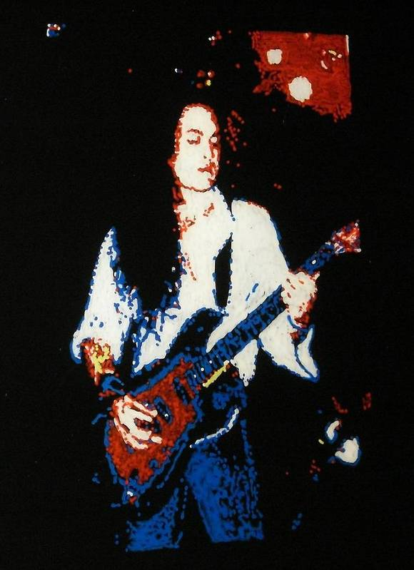 Ozzy Osbourne Poster featuring the painting Jake E. Lee by Grant Van Driest