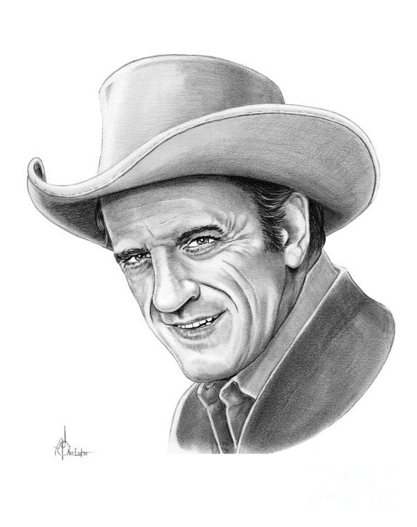 Pencil Poster featuring the drawing James Arnes by Murphy Elliott