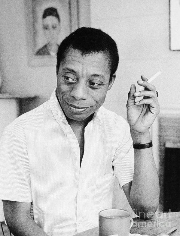 1950s Poster featuring the photograph James Baldwin by Granger