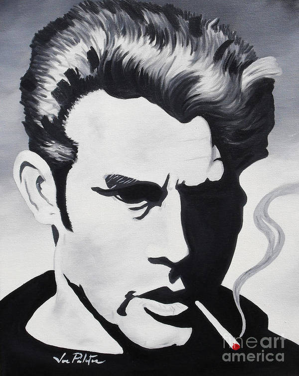James Dean Poster featuring the painting James Dean by Joseph Palotas