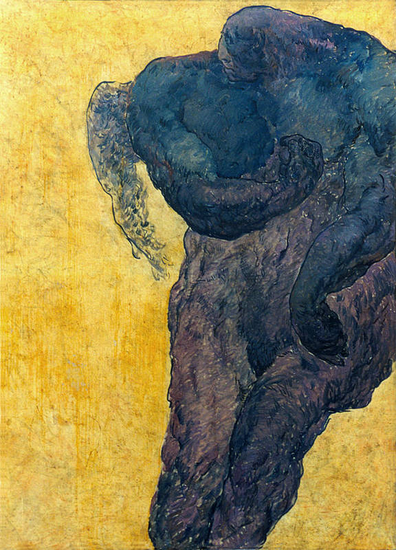 Nude Poster featuring the painting Jan 1 by Valeriy Mavlo