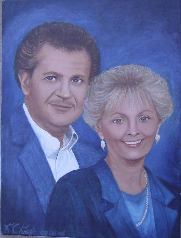 Portraits Poster featuring the painting Jane And Ray by KC Knight