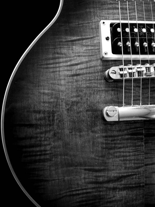 Jay Turser Poster featuring the photograph Jay Turser Guitar Bw 1 by Dorothy Lee