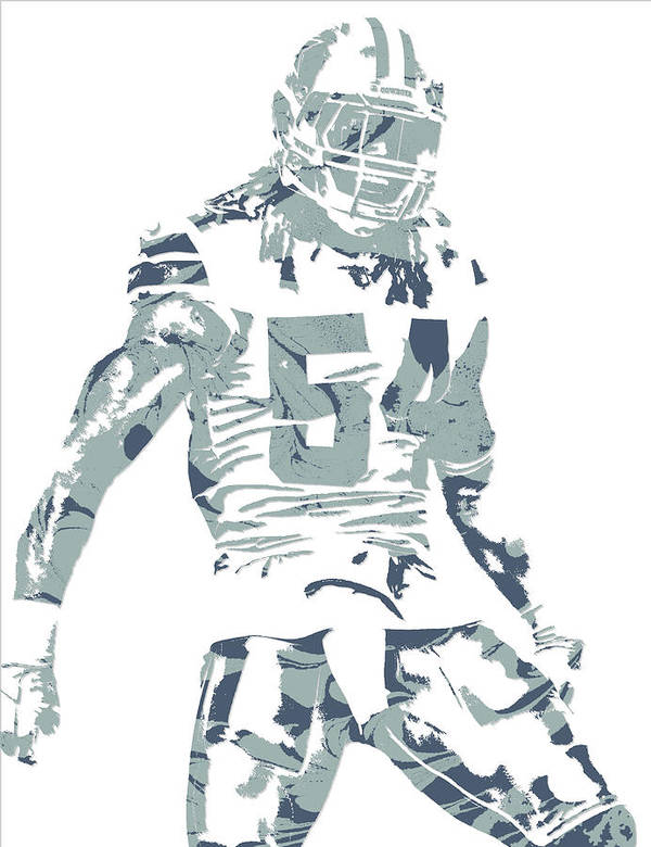 the latest b4aba 9e53c Jaylon Smith Dallas Cowboys Pixel Art Poster