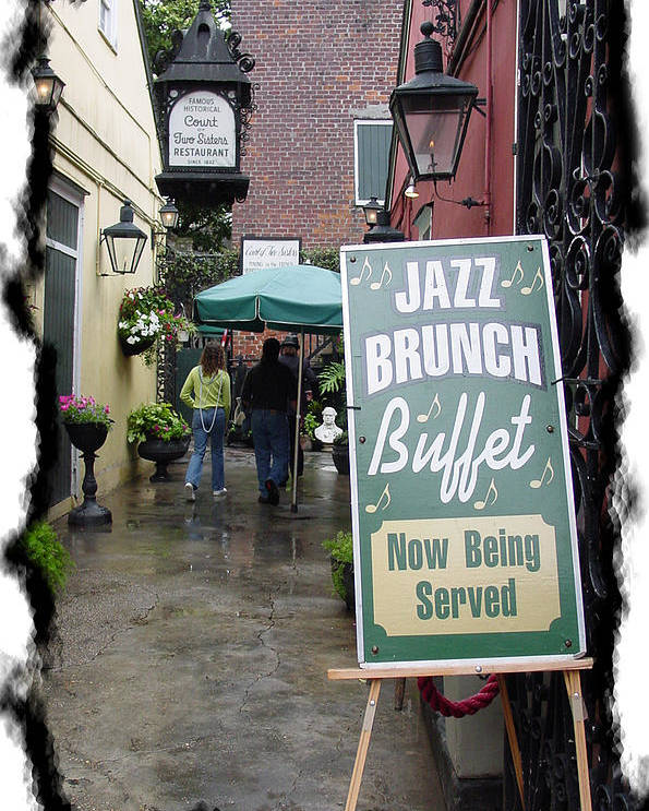 New Orleans Poster featuring the photograph Jazz Brunch by Linda Kish