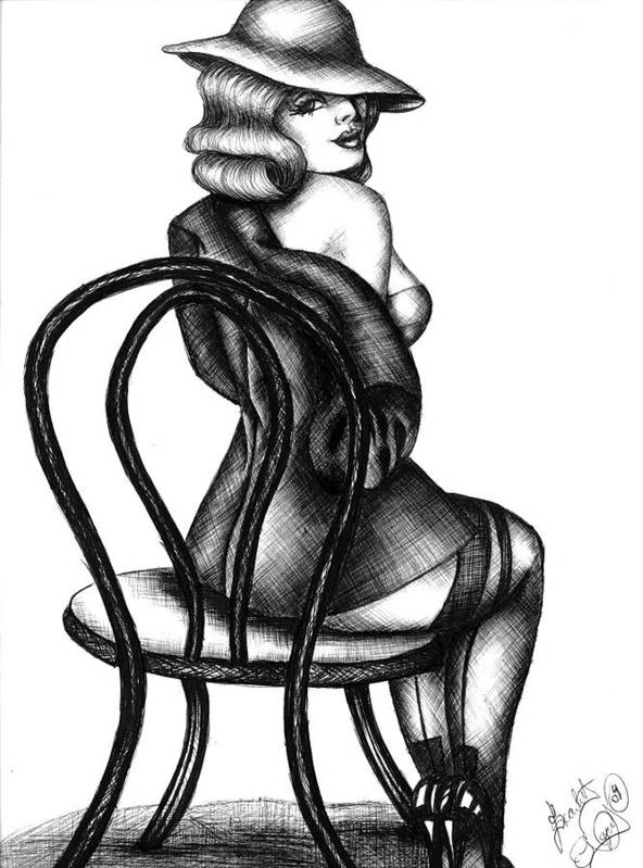 Pen And Ink Poster featuring the drawing Jazz Dancer by Scarlett Royal